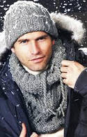 Мужские комплекты ( шапка и шарф )