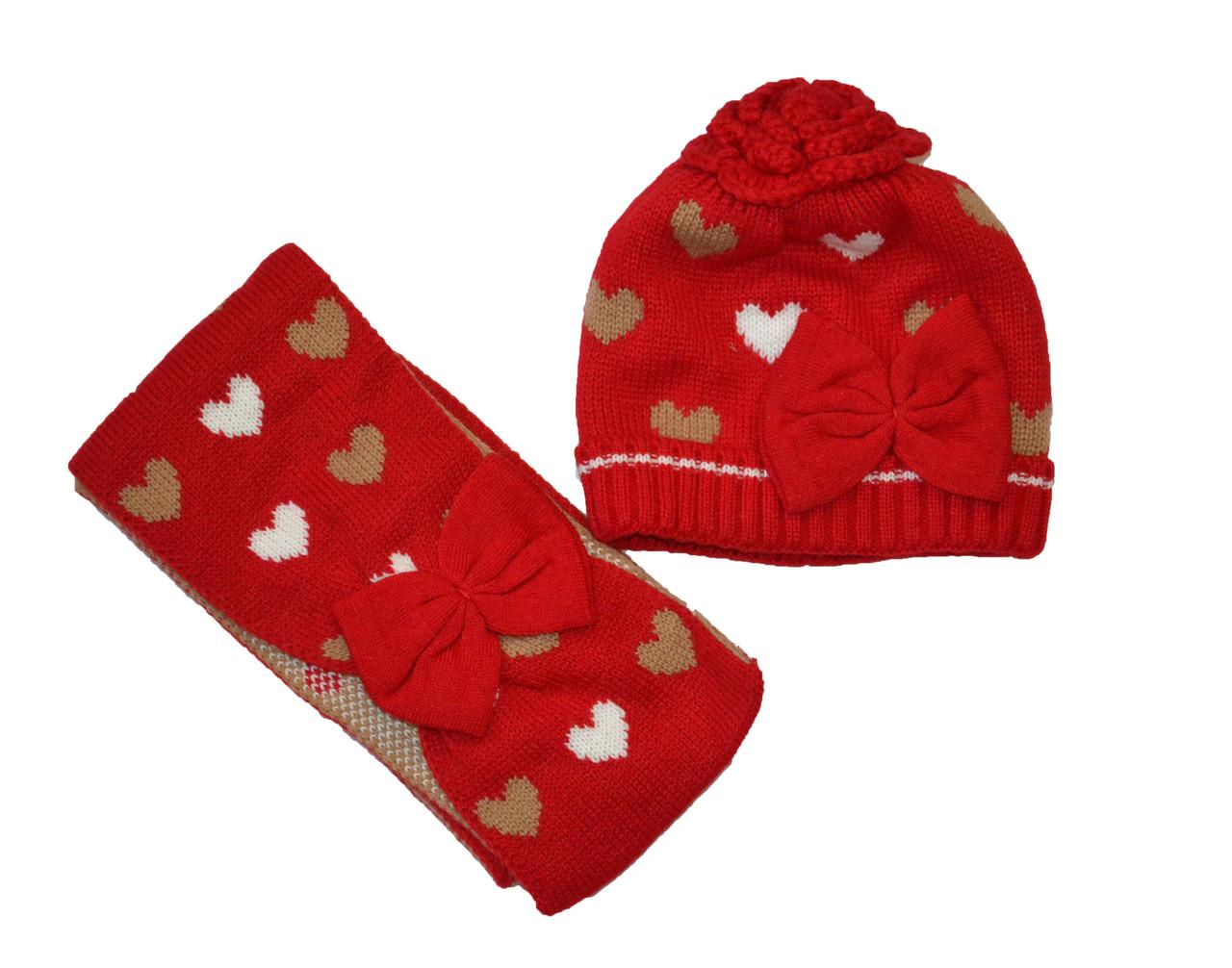 Набір шапка і шарф демісезонний для дівчинки