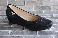 Черные женские туфли баталы