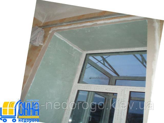 Откосы из гипсокартона на двухстворчатые окна