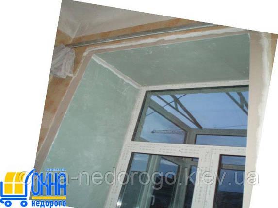 Откосы из гипсокартона на двухстворчатые окна, фото 2