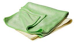 40531 Набор полотенец микрофибровых универсальных 40х40 см., зеленый и желтый - Flexipads BUFFING, 2 шт.