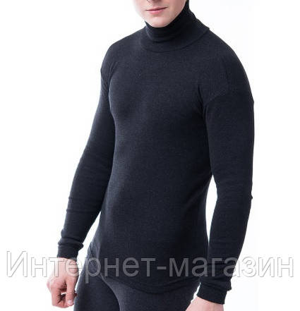 Гольф мужской Kolo темно-серый на флисе (L- 4XL) код 9018