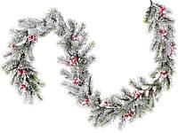 """Новогодняя ветка """"Хвоя"""" размер 145 см, рождественский венок"""