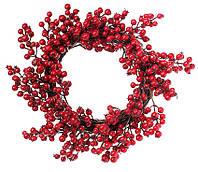 """Новогодний венок """"Ягода"""" размер 50 см, рождественский венок"""