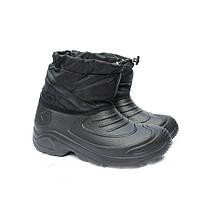 Ботинки мужские зимние с галошей, черный