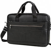 "Кожаная сумка для ноутбука 15"" Сумка Bexhill Bx1128A черная"