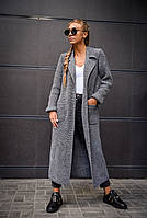 Взрослое вязанное пальто