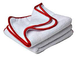 40532 Набор полотенец микрофибровых розполировочных, бело-красный - Flexipads BUFFING WONDER, 2 шт.