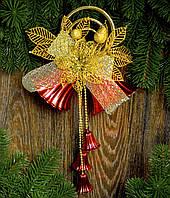 Колокол новогодний большой красный 0281