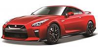 Автомодель NISSAN GT-R цвет в ассортименте красный, белый металлик, 1:24 Bburago (18-21082)