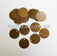 Монетки для декора, плоские, 1,5 см, цвет антик, 20 шт.
