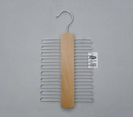 Плечики вешалки металлические для галстуков, ремней с деревянной вставкой