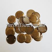 Монетки для декора, выпуклые, 1,5 см, цвет антик, 20 шт.