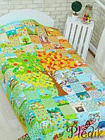 Эко покрывало-одеяло 105х145 хлопок/конопля «Времена года»