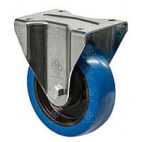 Колеса неповоротные из эласт. синей резины Norma с крепежной панелью, ролик.подш. Ø80-250мм