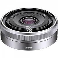 Объектив Sony E 16 mm f/2.8 Silver (SEL16F28.AE)