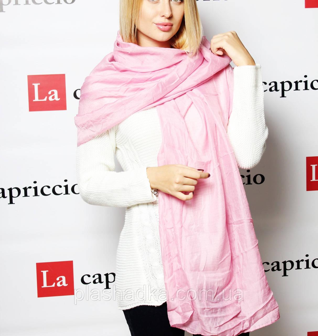 Шарф-палантин, цвет розовый