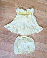 Батистовое платье и шортики для малышки (рост 68)
