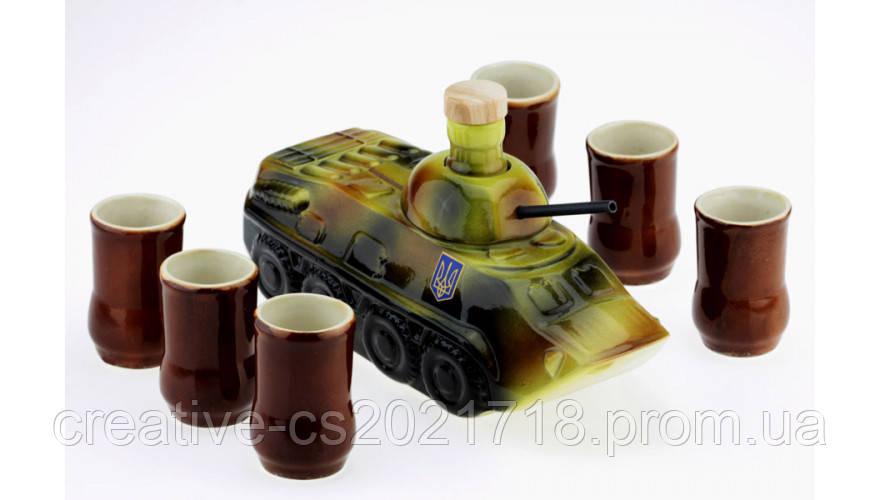 Коньячный набор БТР (танк) 7 предметов