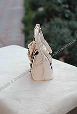 Женский рюкзак Fashion с брелком Мишка - Белый кофе с молоком, фото 3