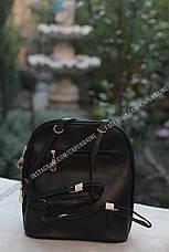 Женский рюкзак Fashion с брелком Мишка - Черный, фото 2