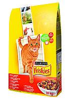 """Friskies """"С мясом ,курицей,печенкой """"  10 кг - корм для котов"""