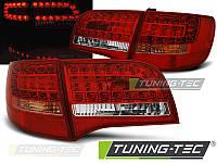 Фонари стопы задняя оптика Audi A6 C6 Avant красно-белые