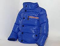 Зимняя голубая курточка Moncler