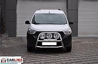 Кенгурятник Dacia Dokker 2013+ (WT022 нерж)