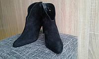 Ботильоны кожаные женские замшевые черные L.K.Bennett  .Женская обувь Италия