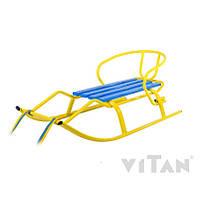 Санки детские «Спорт F1 Патриот» желтые ТМ Vitan Витан 7310 желтые (Украина)