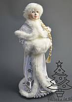 Снегурочка с муфтой белая с серебром 0551, фото 2