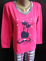 Хлопковые теплые пижамы для женщин., фото 1