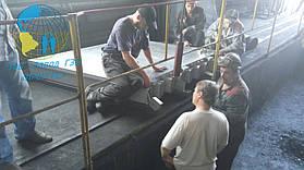Сборка нагревательных плит (состоит из 3шт.) устанавливаются на нижние балки
