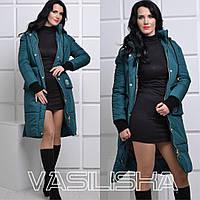 Модная удлиненная женская зимняя куртка ан-10676-5
