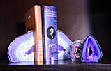 Агатовая жеода, жеода с горным хрусталём (цвет синий ~280 г.), фото 3