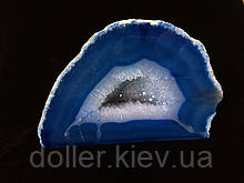 Агатове жеода, жеода з гірським кришталем (колір синій ~280 р.)