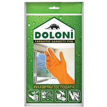 Перчатки DOLONI №4545 универсальные хозяйственные латексные (М)