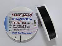 Нить для бисера TYTAN 100 GOLD №2799. Черный 100 м