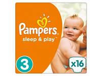 Подгузники Pampers Sleep&Play Midi 3 (4-9 кг) 16 шт.