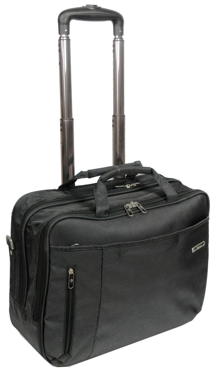 Кейс пилот на колесах для бизнес поездок 25 л. VIP 365864 антрацит (серый)