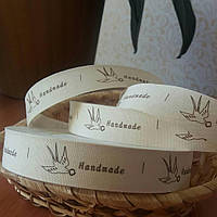 "Лента декоративная ""Hand made"" 2 см 006"