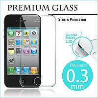 Защитное стекло Apple iPhone 4, iPhone 4S|Premium Glass|Углы закругленные|