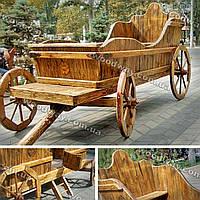 Декоративная садовая карета