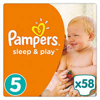 Подгузники Pampers Sleep&Play Junior 5 (11-18 кг) JUMBO PACK 58 шт.