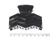 Заколка-краб для волос пластик черный 8 см 12 шт/уп