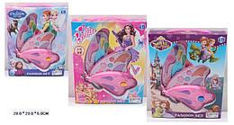 """Косметика """"Frozen""""Barbie""""Sofia"""" 3вид,2-ух ярус,тени,румяна,блески,в кор.28*5*23см /96-3/"""