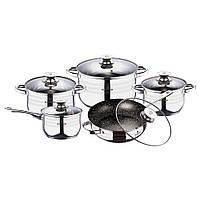 Набор кухонной посуды из нержавеющей стали 10 предметов Blaumann BL-3164