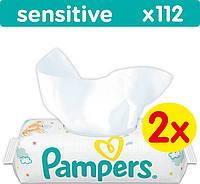 Влажные салфетки Pampers Sensitive, 2x56 шт.